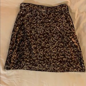 NWT Sequined Leopard Print Skirt